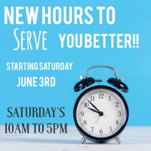 New Saturday Hours