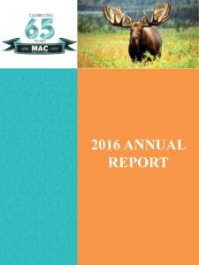 2016 MAC Annual Report Cover