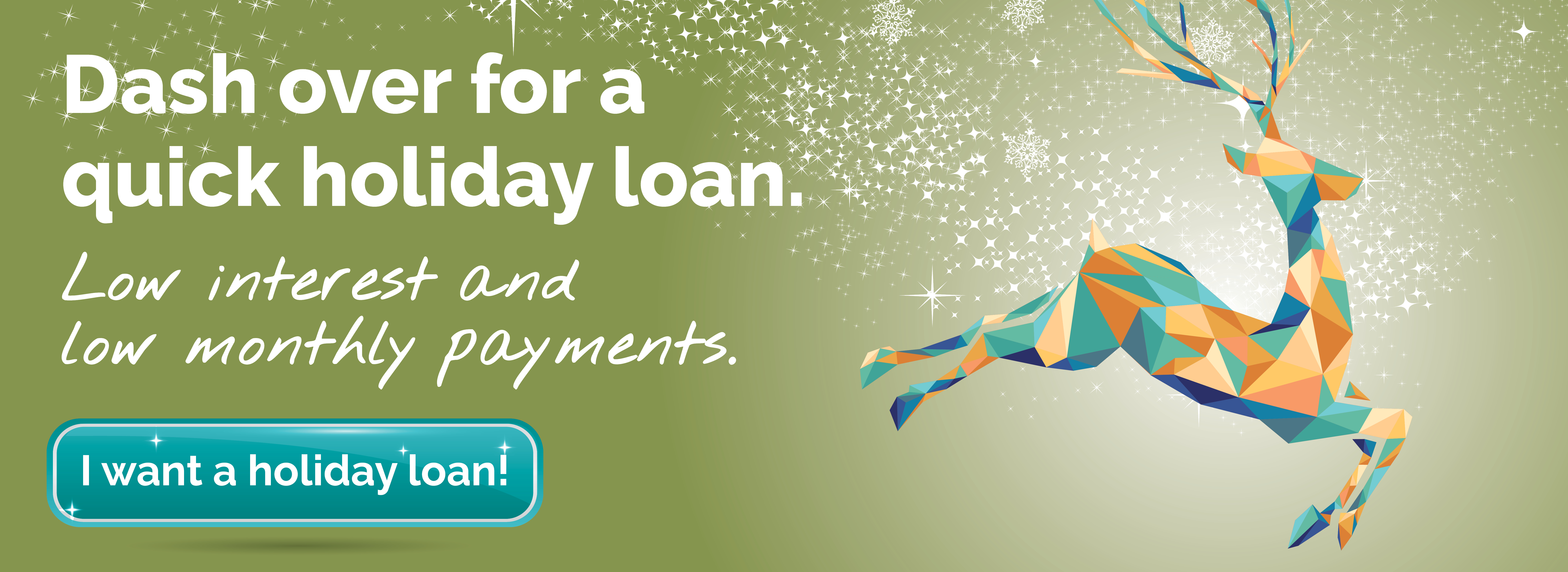 holiday loan with deer image