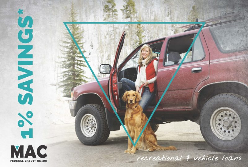 woman with dog by 4Runner