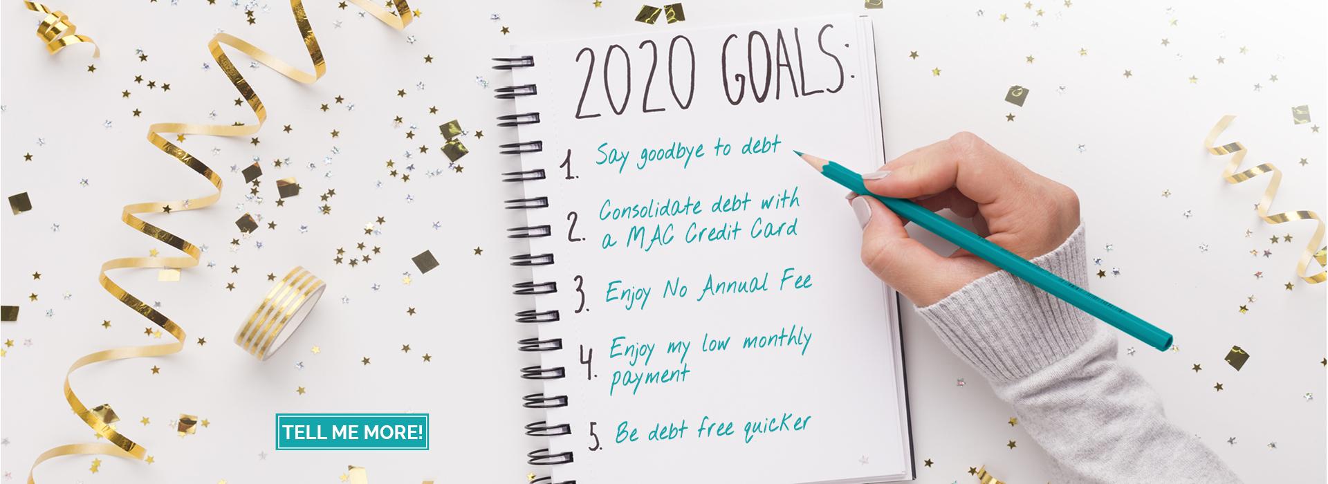 2020 Goals Checklist