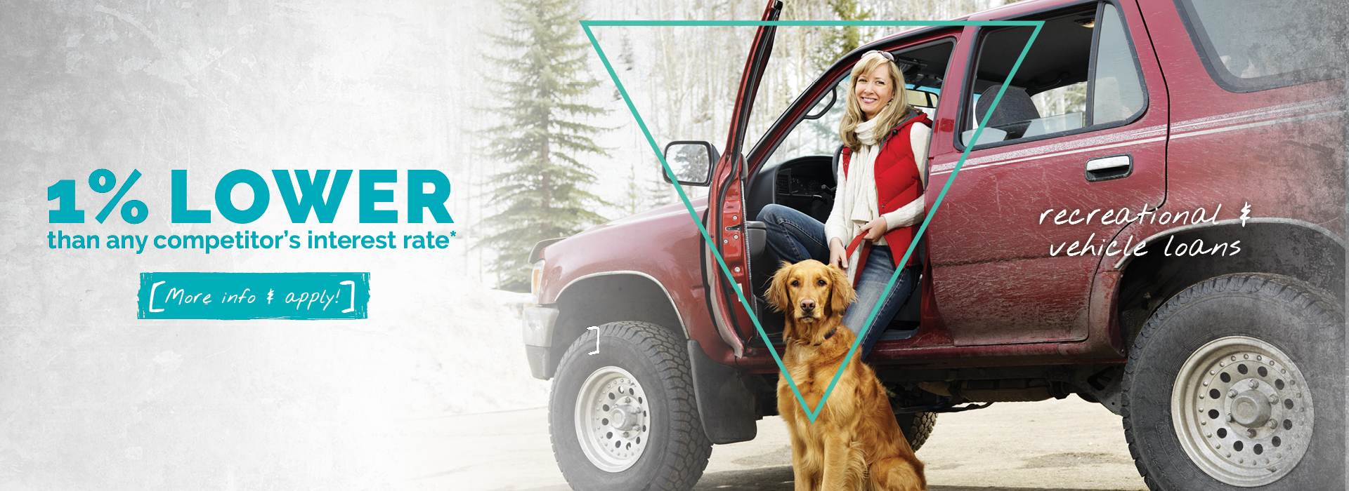 woman by 4 runner with dog