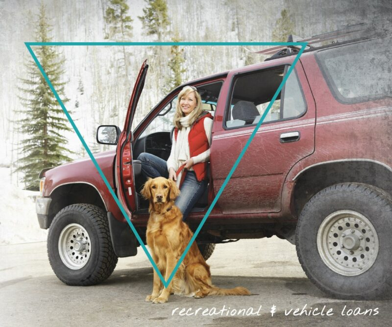 woman with 4runner and dog